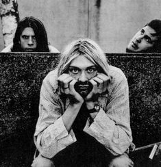 Nirvana: Kurt Cobain, Dave Grohl, and Krist Novoselic, by Anton Corbijn Band Photography, Portrait Photography, Punk, U2 Achtung Baby, Nirvana Kurt Cobain, Smells Like Teen Spirit, New Wave, Foo Fighters, Film Director