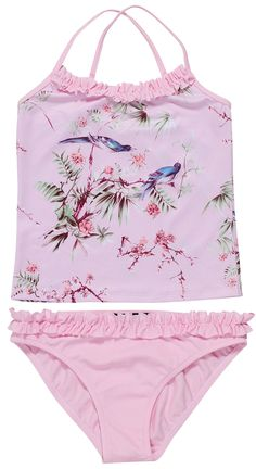 d2c6695f79 Come shop this Beautiful Nightingales On Pink Tankini at stella cove. The  most romantic of tankinis. We provide you with the best clothing and  beachwear