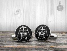 Star Wars cufflinks  DARTH VADER helmet  by GothChicAccessories