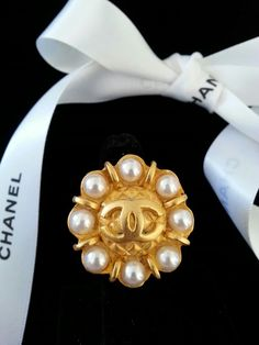 Chanel Button Ring ArmCandy DesignsbyZ  contact zumphlette@aol.com