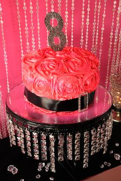 Glam birthday party cake!