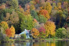 In america for fall colors small towns america and most beautiful