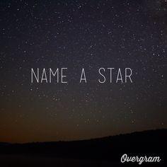 Bucket List: name a star