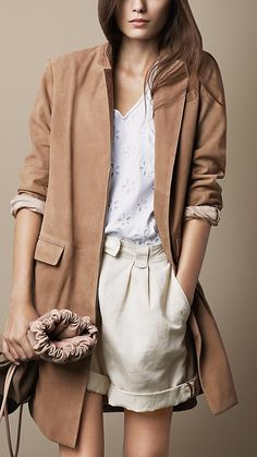 Relaxed Suede Chesterfield | Burberry
