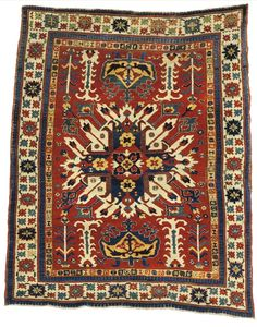 An Eagle Kazak rug, Southwest Caucasus, approximately 5ft. 10in. by 4ft. 9in. (1.78 by 1.45m.)m, circa 1800 [sold for $233,000]