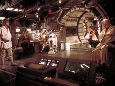 Inside of Millenium Falcon. The entrance in this pic would be a cool thing to make work for our entrance