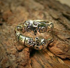 Viking Horse Head ring. Oseberg replica .
