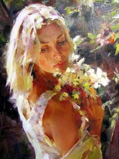 michael inessa garmash paintings | MICHAEL & INESSA GARMASH GARDEN MEMORIES ORIGINAL PAINTING CANVAS