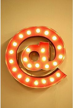 Urban Outfitters - At Symbol Marquee Light - Not sure what I'd do with it, but love it!