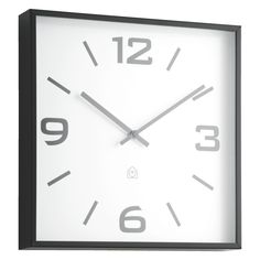 QUAYLE Black square wall clock | Buy now at Habitat UK