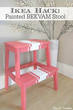 IKEA Hacks for the Bekvam step stool