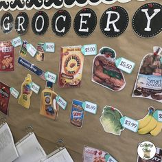 Functional and interactive life skills Grocery store bulletin board! Students can practice money math with these life size images. Life Skills Lessons, Life Skills Activities, Life Skills Classroom, Autism Classroom, Special Education Classroom, School Classroom, Classroom Activities, Classroom Ideas, High School Jobs