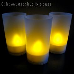 Flicker Flame LED Tea Lights with Votive http://glowproducts.com/ledcandleproducts/flickercandles/