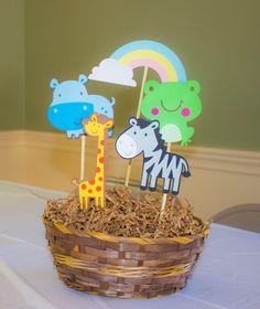 Centerpiece for Noah's ark party