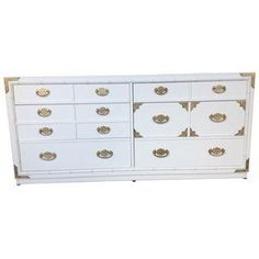 White Faux Bamboo Dresser by Thomasville