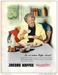 Original-Werbung/Inserat/ Anzeige 1959 - 1/1 SEITE/GROSSFORMAT JACOBS KAFFEE - ca. 240 x 320 mm