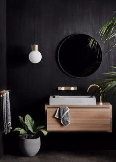 Seven clever ways to optimise small spaces   Home Beautiful Magazine Australia Best Bathroom Vanities, Bathroom Faucets, Vanity Basin, Lisa Cohen, Tiny Powder Rooms, Bathroom Trends 2017, Vanity Units, Bathroom Inspiration, Bathroom Ideas
