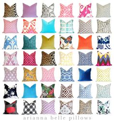 A great on-line, bespoke resource for decorative pillows if you're not working directly with an interior designer. Decorative Pillows - Arianna Belle