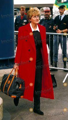 Princess Diana Zurich Airport Switzerland 03-23-1994 Photo by Dave Chancellor/alpha/Globe Photos,inc.