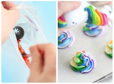 How to Fill a Decorating Bag for Rainbow Design