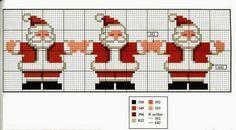 Papa Noel en punto de cruz