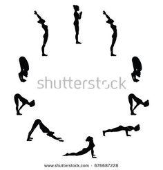 surya namaskar / sun salutation a  b  yoga poses
