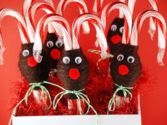 Reindeer Candy Canes...cute!!