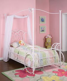 Look at this #zulilyfind! Princess Emily Twin Canopy Bed by Powell Company #zulilyfinds