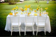 Decoración para bodas de color amarillo - Para Más Información Ingresa en: http://fotosderamosdeflores.com/decoracion-para-bodas-de-color-amarillo/