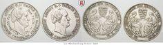 "RITTER Königreich Sachsen, Friedrich August II., 2x Taler 1854, ""Sterbetaler"" #coins"