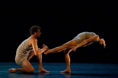 Lahna Vanderbush and Kendall Teague of Ballet San Jose in Ohad Naharin's Minus 16 .