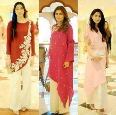 Pakistani Party Wear Dresses, Pakistani Outfits, Fashion Wear, High Fashion, Fashion Outfits, Designer Kurtis, Designer Dresses, Ethnic Gown, Wedding Hijab