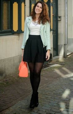 Outfit: WalG dress + my Terre Bleue collaboration! - Curls and Bags #fetishpantyhose #pantyhosefetish #legs #heels #blogger #stiletto #pantyhose #black