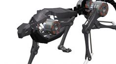 Robotic feline. The cheetah robot is engineered to move like its real-world counterpart.