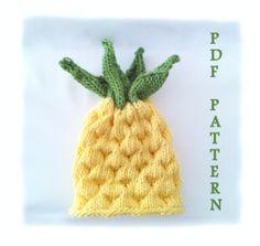 Easy knitting pattern Baby knit Pineapple Hat by LunaticKnitter, $4.50