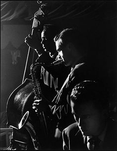 Stan Getz with Tommy Potter  and Al Haig, Birdland, NYC, 1949.