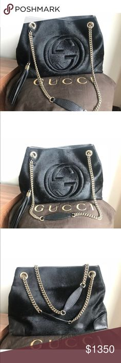 🎉💋AUTHENTIC GUCCI SOHO CALF HAIR SHOULDER BAG🎉 acfda25056cc8