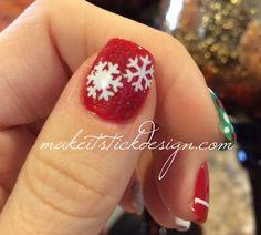 Snowflakes Christmas Nails