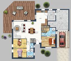 R sultats de recherche d 39 images pour maison plain pied 4 for Plan maison 6 chambres