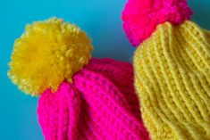 Need a last minute hat? Create a simple loom knit hat in just a few hours! Complete with giant pom pom! A great gift or beginner project!