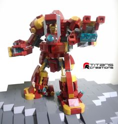""""""" Tinman X Ironman """" by Titans Creations Lego Mech Suits for the Avengers In this brilliant series, Titan Creations designs Leg."""