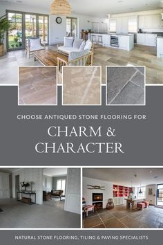 There's no doubt that antiqued stone flooring can add real charm and character to your interior design. Our range includes a number of exclusive materials that are finished by hand to create the texture and character of an antique floor or flagstones that have been laid for centuries. Choose antiqued stone flooring for farmhouse and classic kitchens, and in your garden design projects. Find it on our website. #naturalstoneconsulting #naturalstoneflooring #antiquedstoneflooring Farmhouse Interior, Farmhouse Decor, Farmhouse Kitchens, Kitchen Flooring, Flooring Tiles, Flagstone Flooring, Natural Stone Flooring, Antique Tiles, Old Stone