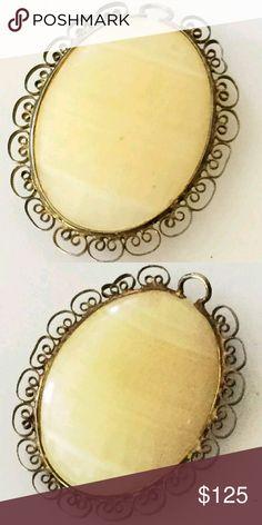 "Vintage 1920's Sterling Agate Art Deco Pendant Beautiful pendant from the 1920's. Sterling and Agate. Stunning. 2"" ? 1 5/8"" Vintage Jewelry"