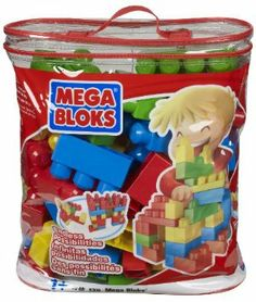 Mega Bloks Bag (70) by Megabloks. $19.88. Award-winning toy. Limitless building possibilities. 70 big Mega Blocks. Sturdy, practical and reusable storage bag!. Primary Classic color scheme. From the Manufacturer Play, store and take it with you wherever you go! The 70-piece MEGA Maxi Blocks Classic Bag includes 70 big building blocks! It is the perfect toy for your little building fan who is just learning how to create with his own two hands. Gi...