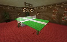 minecraft furniture. Brilliant ping pong table design - and the hanging light would be perfect over a pool table.