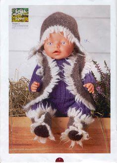 Albumarkiv - Baby Born Sandnes 0702 Crochet Doll Clothes, Baby Born, Winter Hats, Crochet Hats, Dolls, Archive, Mini, Albums, Book