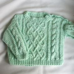 (6) Name: 'Knitting : Garbhan baby/toddler aran cable sweater