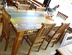 Wooden Dining Table Designs, Wooden Dining Chairs, Wood Bed Design, Used Woodworking Tools, Wood Beds, Outdoor Furniture, Outdoor Decor, Phone, Home Decor