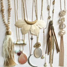 Boutique necklace collection. Great boho accessories at a great price. Jane.com - *affiliate