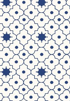 Wallcovering / Wallpaper | Taj Trellis in Jaipur Blue | Martyn Lawrence Bullard for Schumacher
